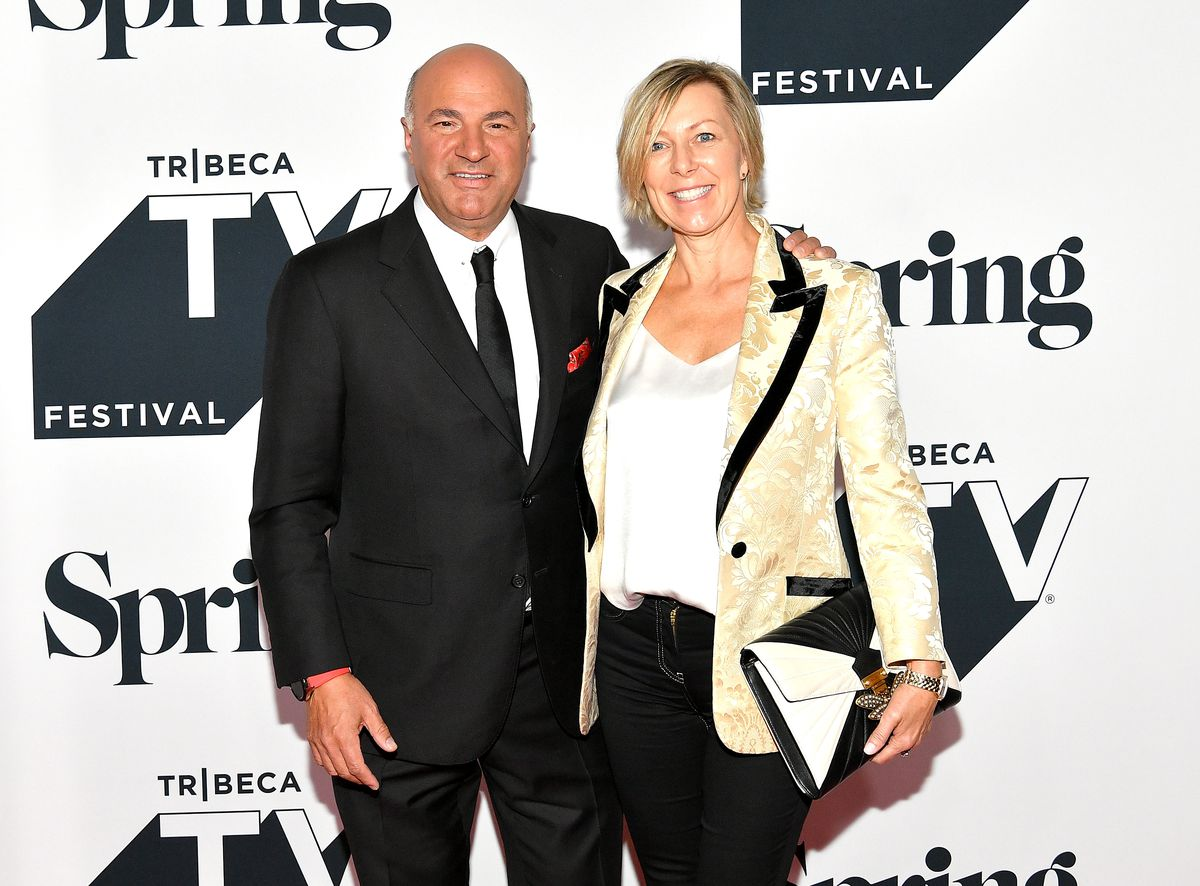 """Kevin O'Leary and his wife Linda O'Leary attend the Tribeca Talks Panel: 10 Years Of """"Shark Tank"""" at the 2018 Tribeca TV Festival in New York City."""