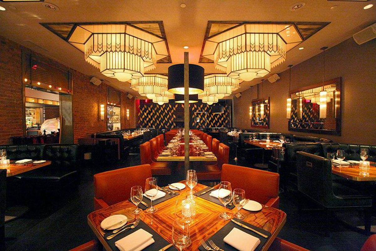 The dining room inside American Cut in New York City.