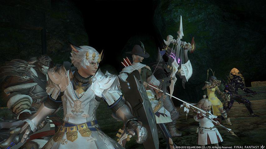 A raiding party in Final Fantasy 14