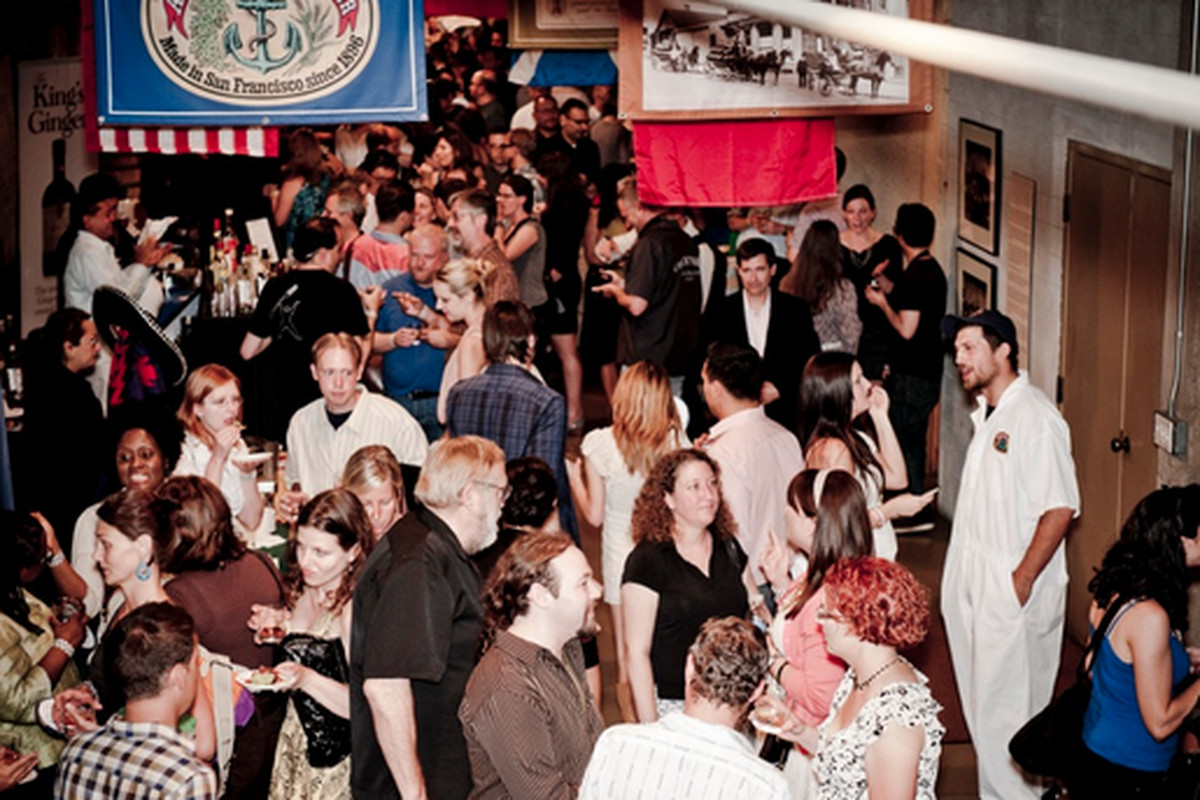 The crowd at Anchor Distillery during last year's opening party.