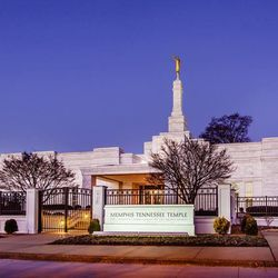 Scott Jarvie is on a mission to capture and compile pictures of every LDS temple in the United States. The Memphis Tennessee Temple is pictured here.