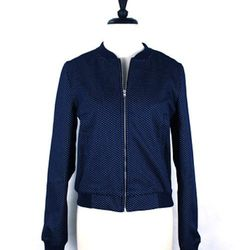 """<a href=""""http://trilliumchicago.com/index.php?product=548+SS14&c=67"""">Filo peacoat bomber jacket</a>, $238"""
