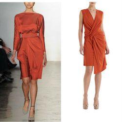 "<a href=""http://www.barneys.com/Iris-Dress/501830214,default,pd.html?cgid=DRESS01-1"">Iris Dress</a>, $298, in rust"
