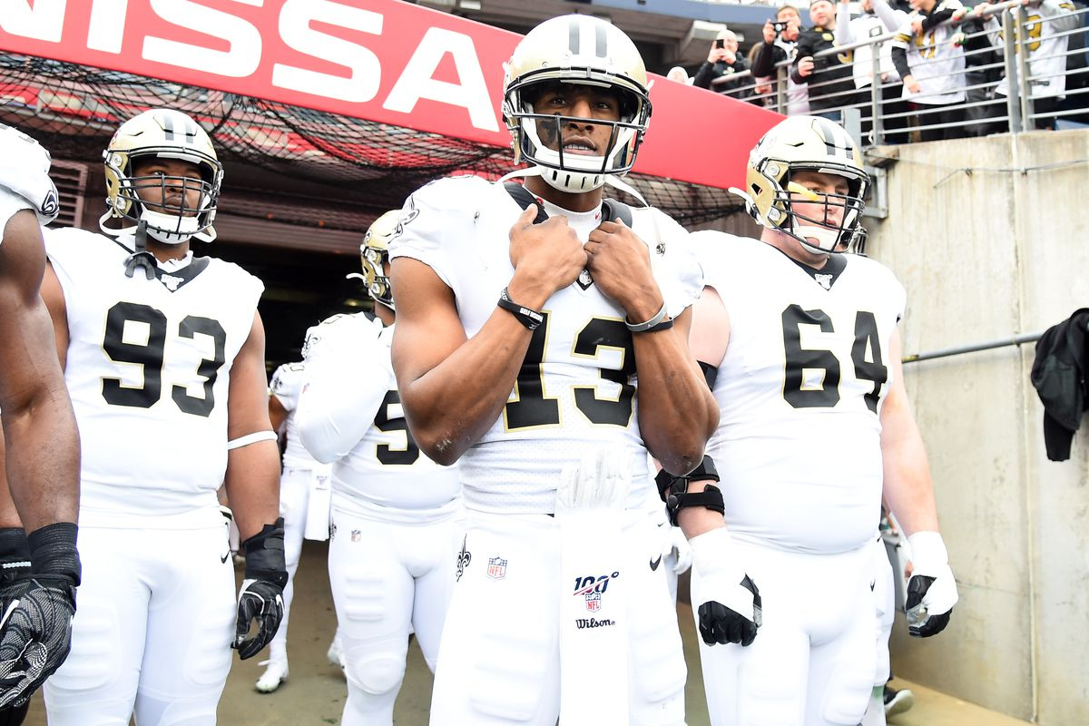 New Orleans Saints wide receiver Michael Thomas before the game against the Tennessee Titans at Nissan Stadium.