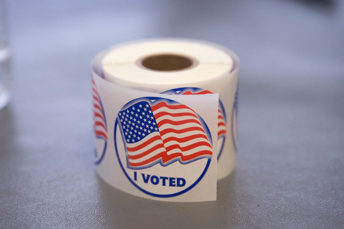 "An ""I voted"" sticker."