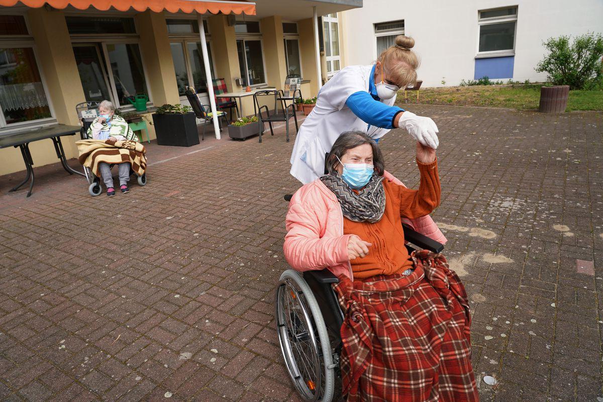 Singer Performs At Nursing Home During The Coronavirus Crisis