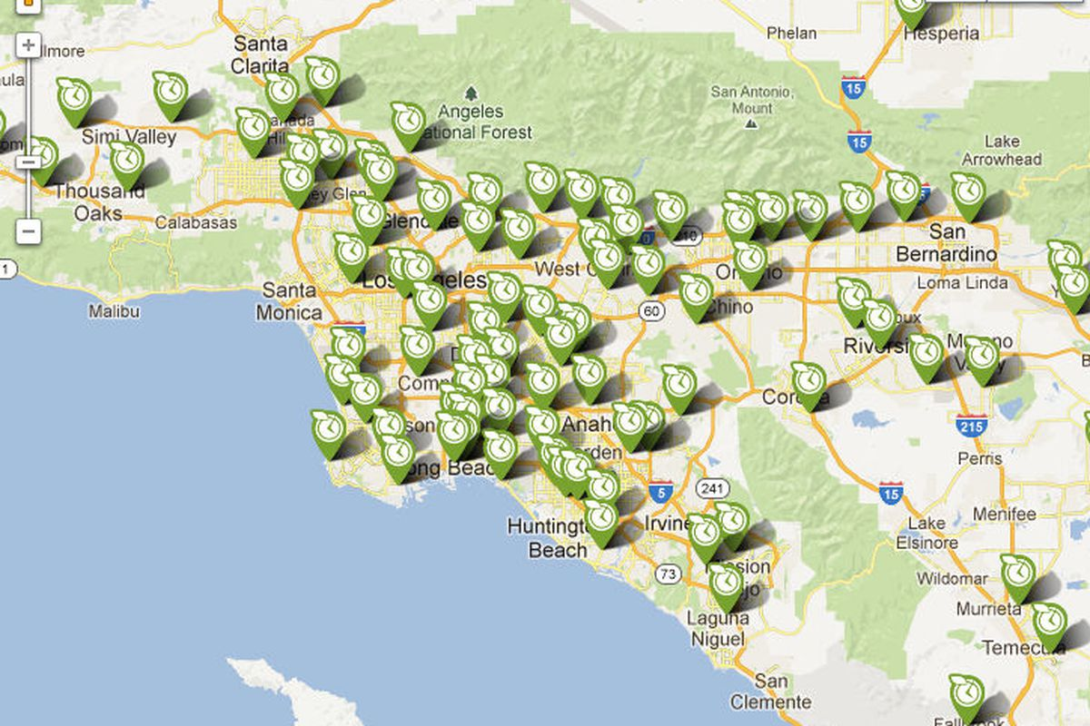 Map of Fresh & Easy stores in the LA area