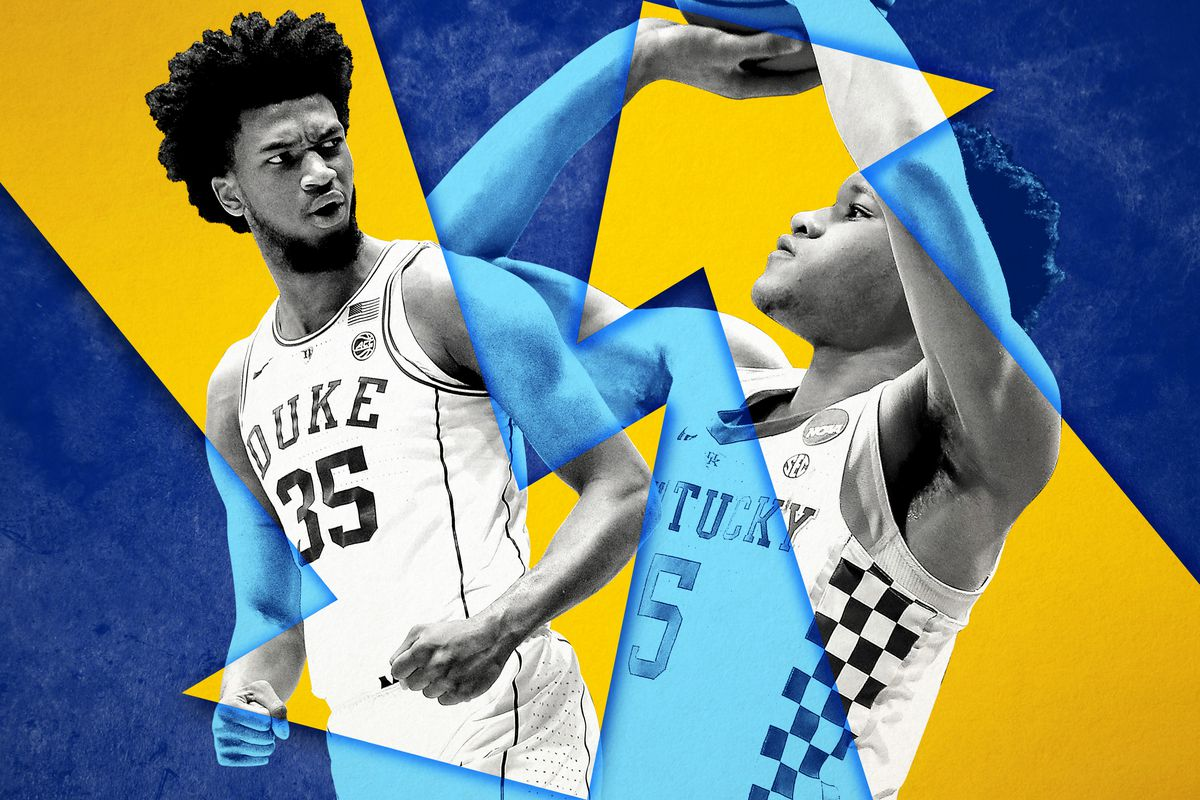 Marvin Bagley III with a downward arrow and Kevin Knox with an upward arrow