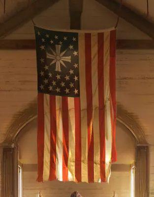 Far Cry 5 - Eden's Gate version of American flag