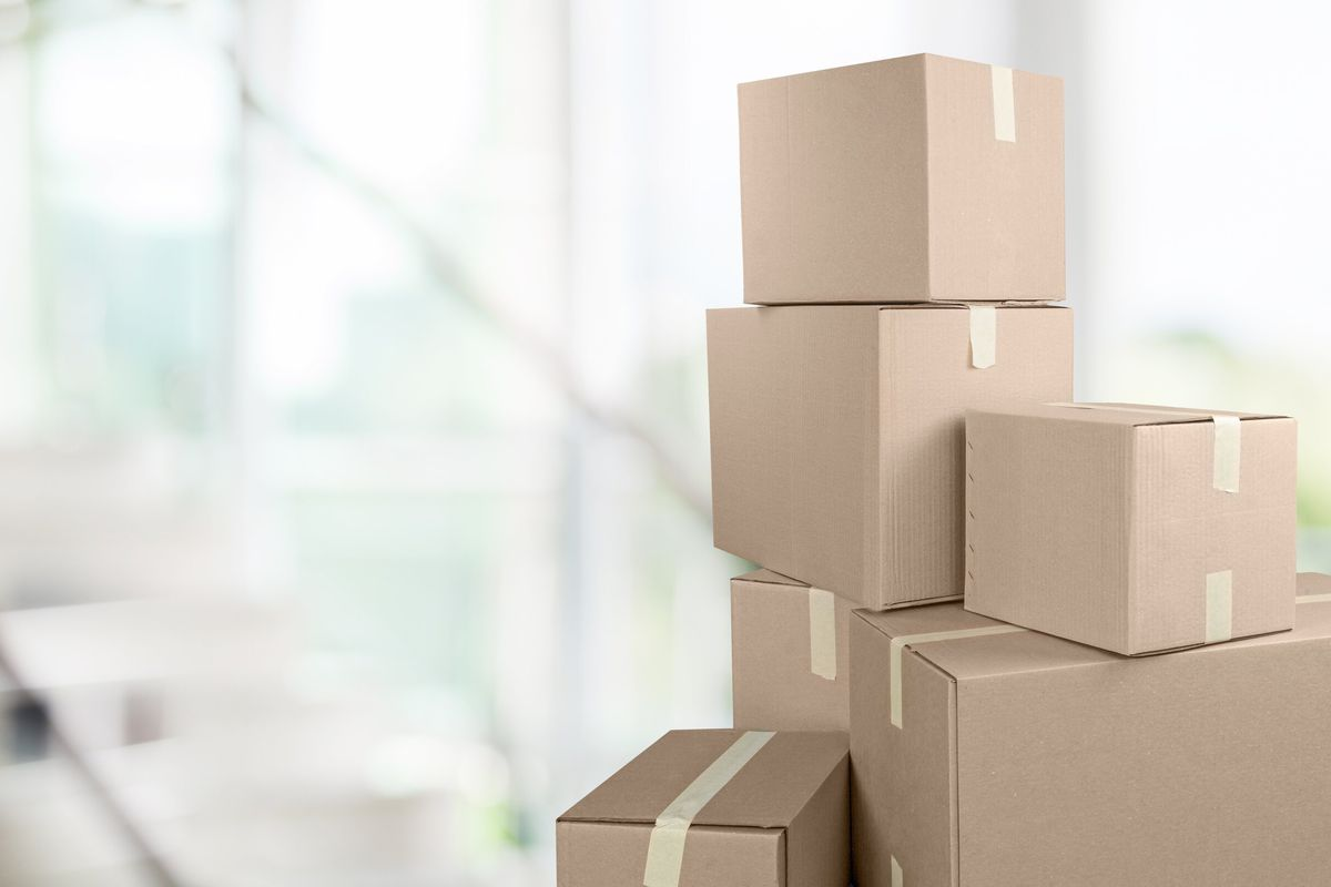Moving boxes in a home