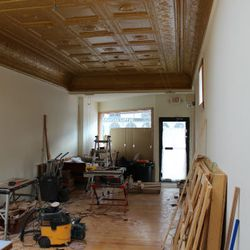 A look at what will be the dining area.