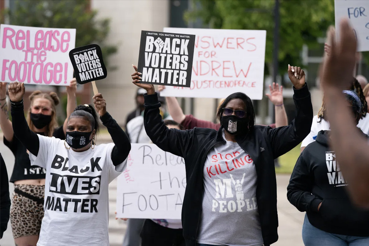 Andrew Brown Jr. protest