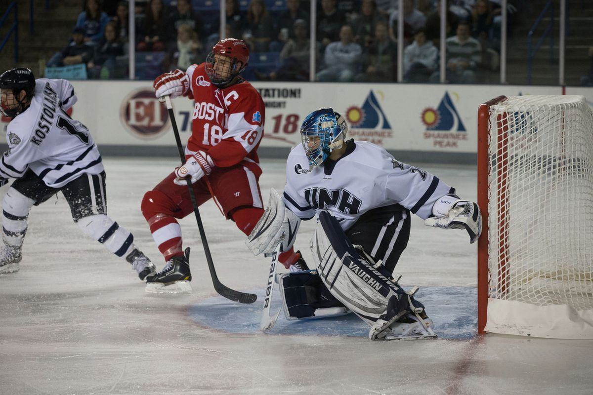 While BU's offense was stymied against Lowell, Casey DeSmith and UNH jumped ahead to tie Merrimack for first place.