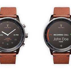 Analog clock and call interface