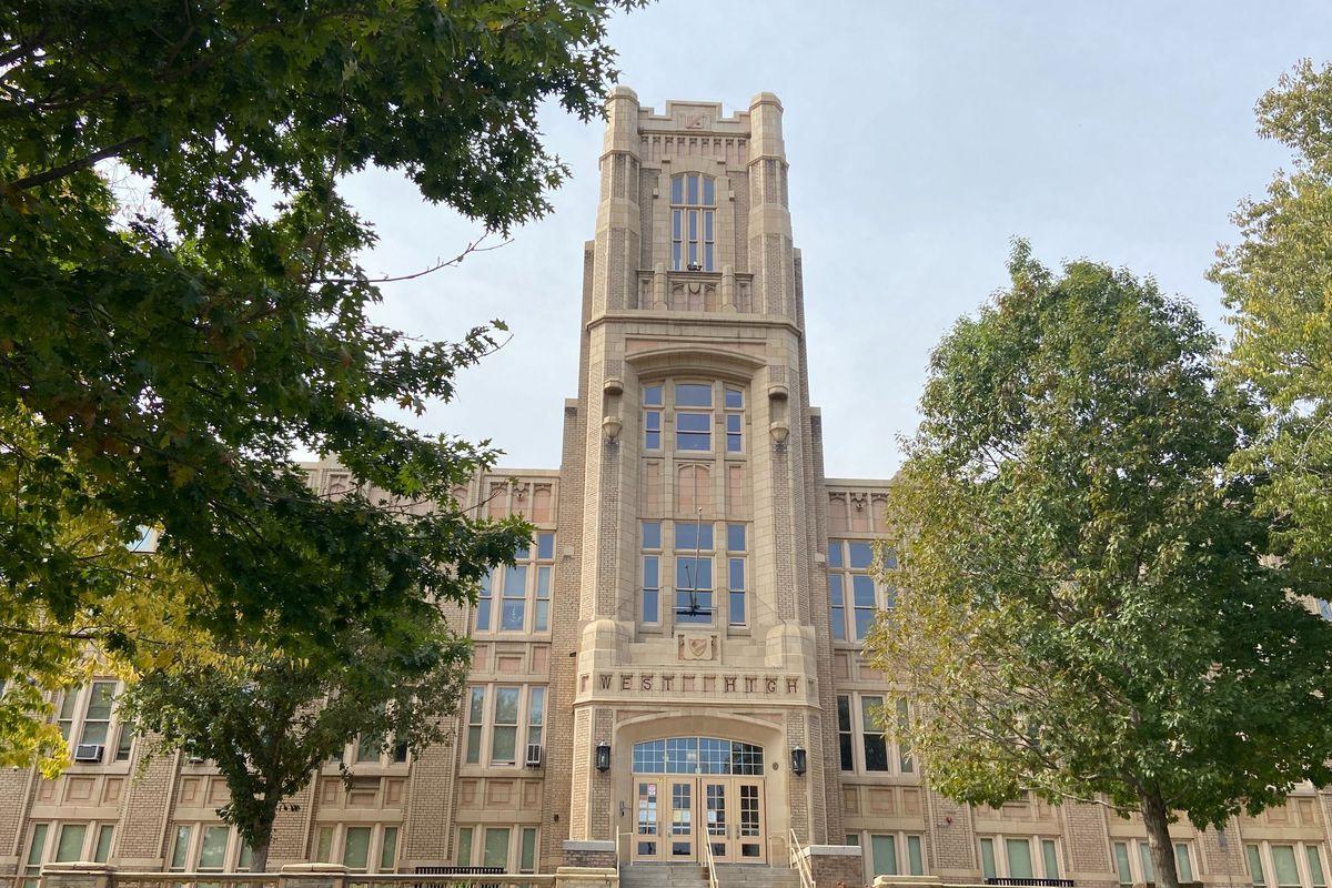 Exterior of Denver's West High School.