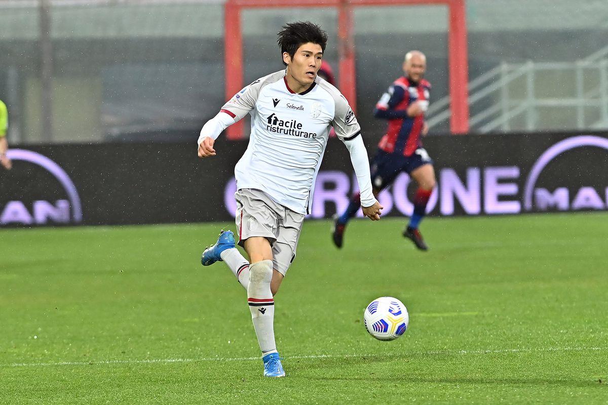 Bologna's japanese defender Takeiro Tomiyasu in action...