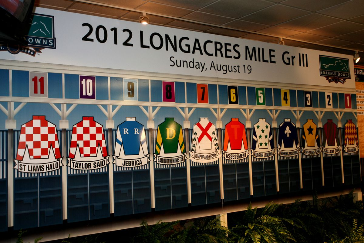 2012 Longacres Mile Draw