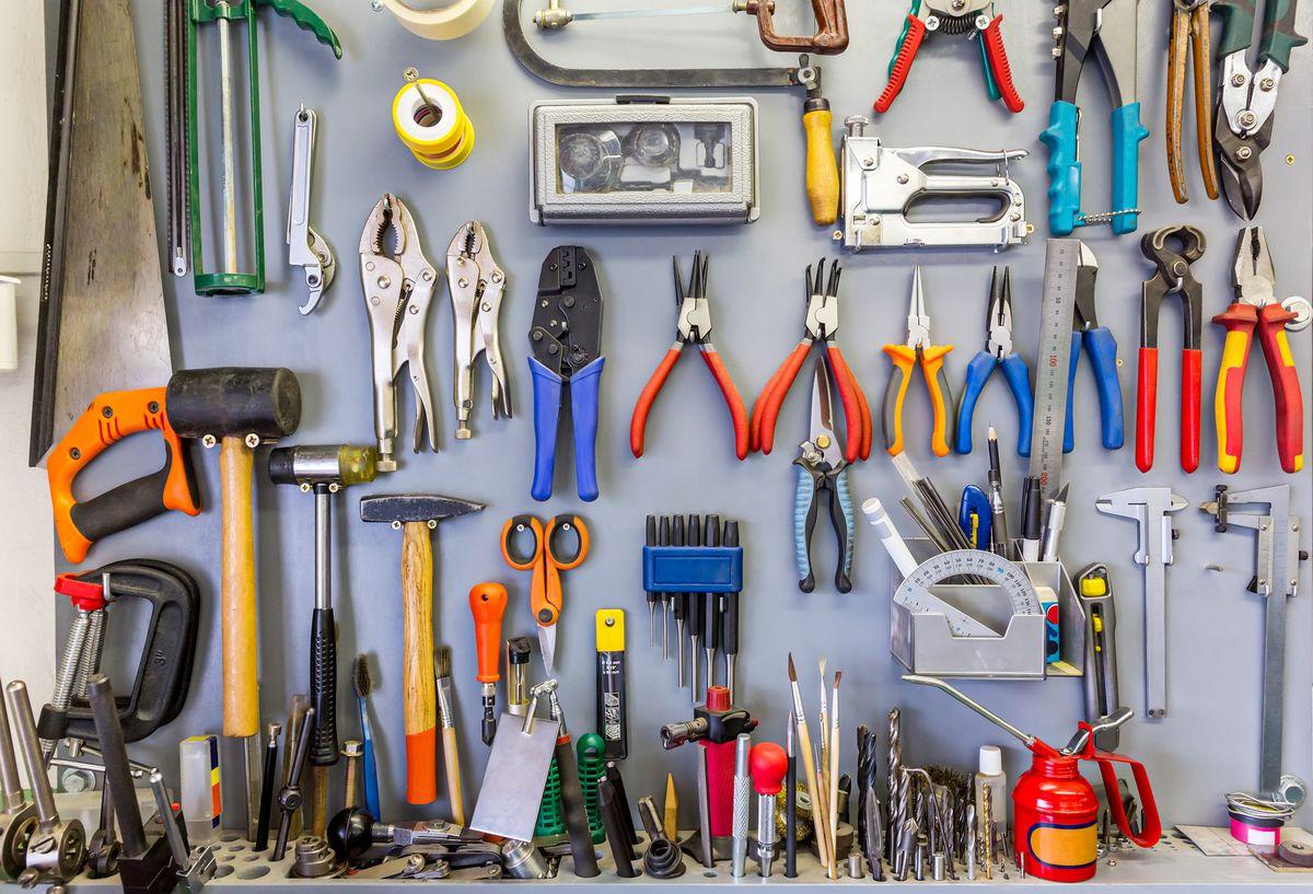 Tools, Wall, Wall Organizer, Peg Board
