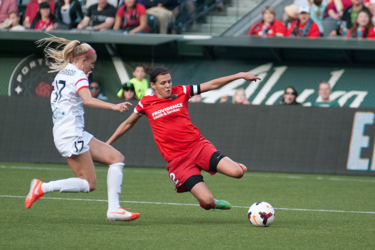 Christine Sinclair was a key factor in the Thorns' 5-2 win over Boston on Wednesday night with two assists