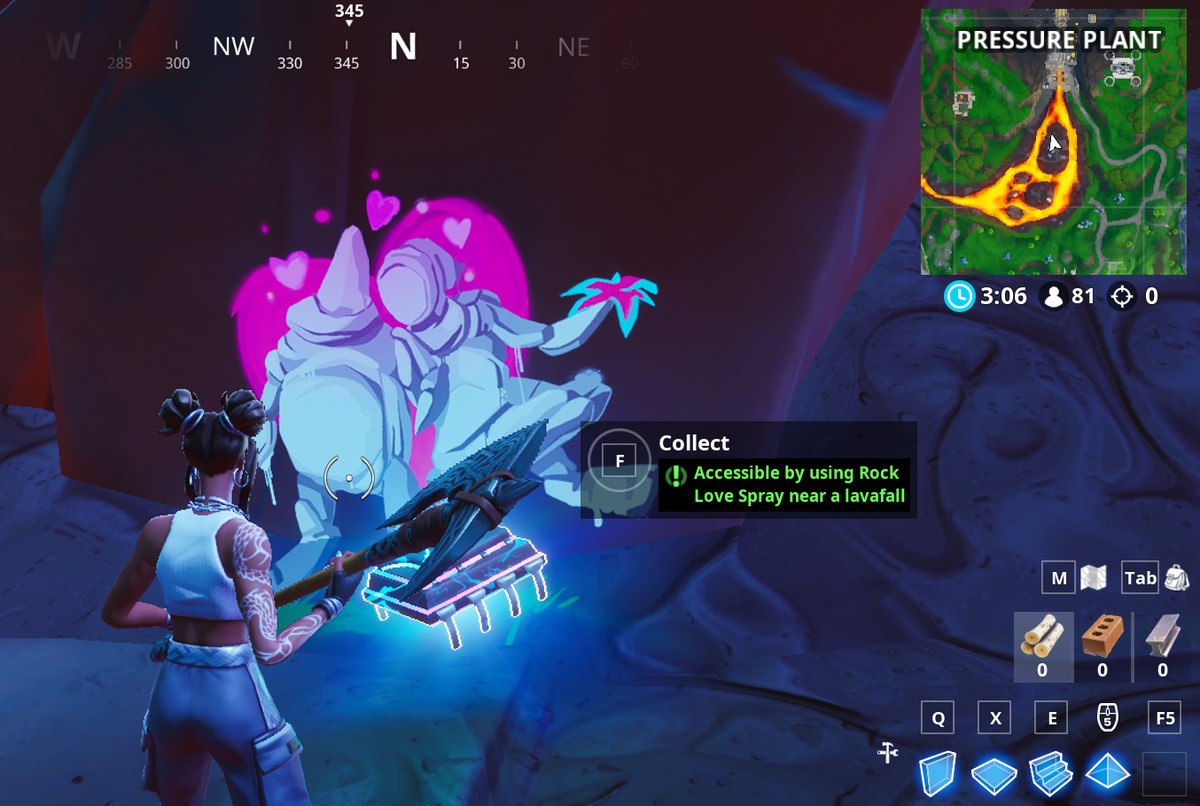 Fortbyte 92 location and Rock Love spray