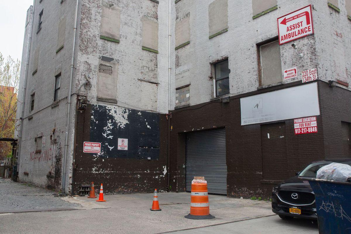A South Bronx warehouse at 220 E. 134th St.