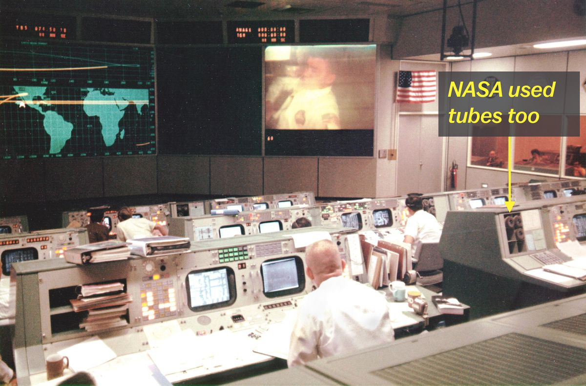 NASA's pneumatic tubes can be seen in this picture