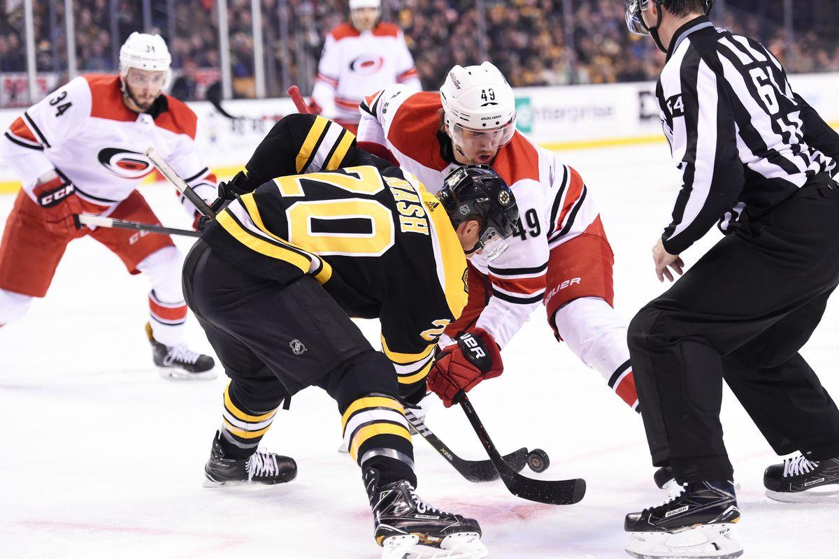 NHL: Carolina Hurricanes at Boston Bruins