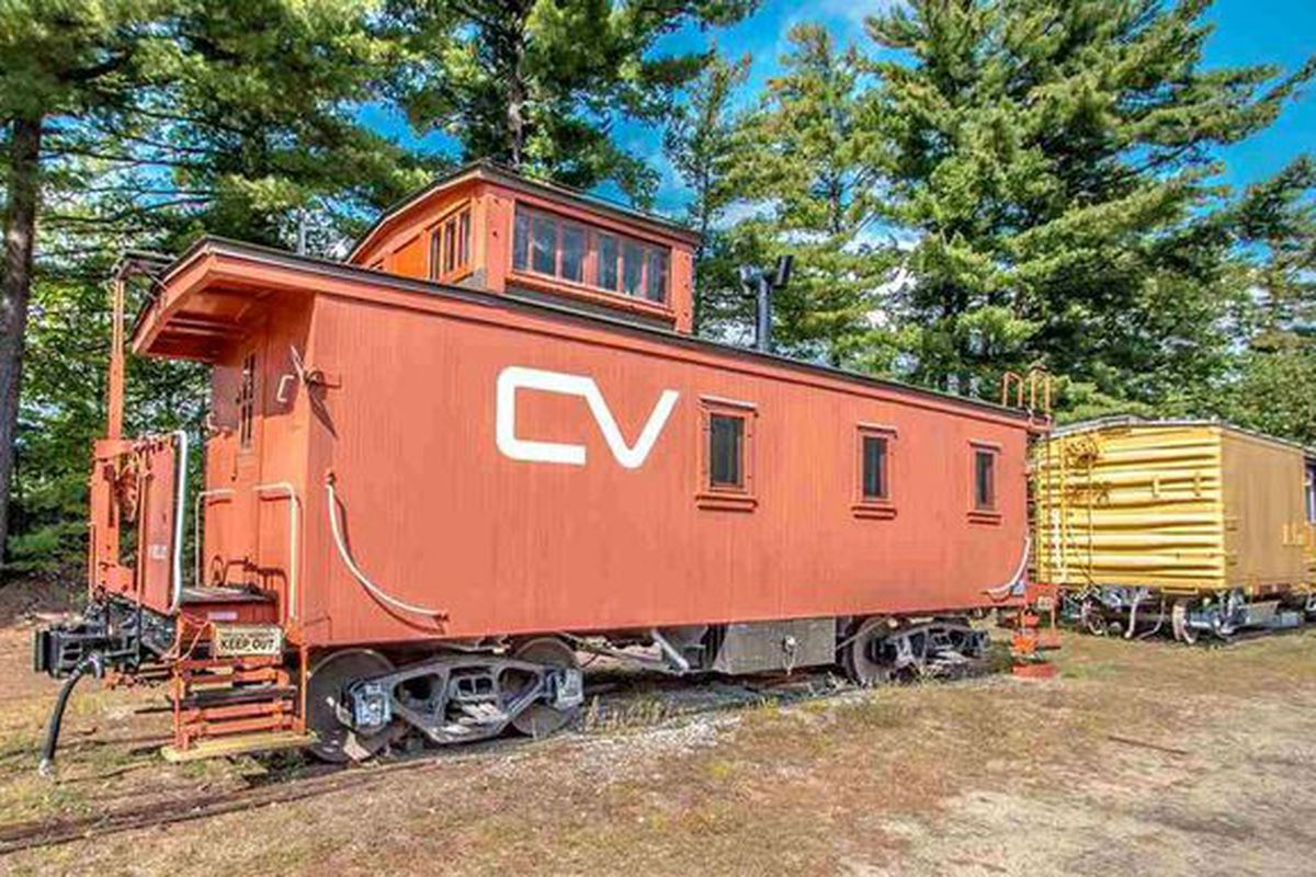 Tiny home, caboose style, can be yours for $52K - Curbed