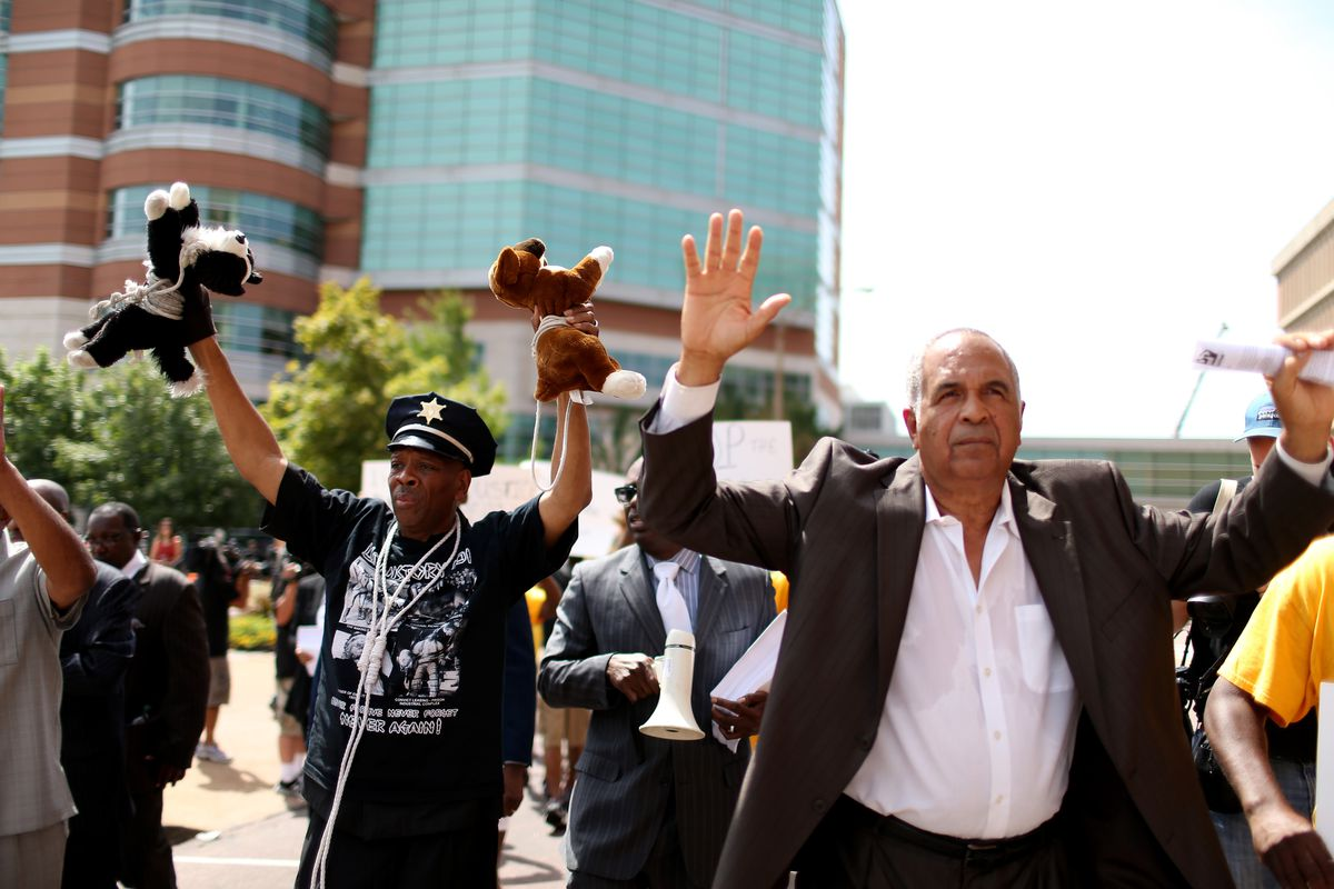 Protestors grand jury