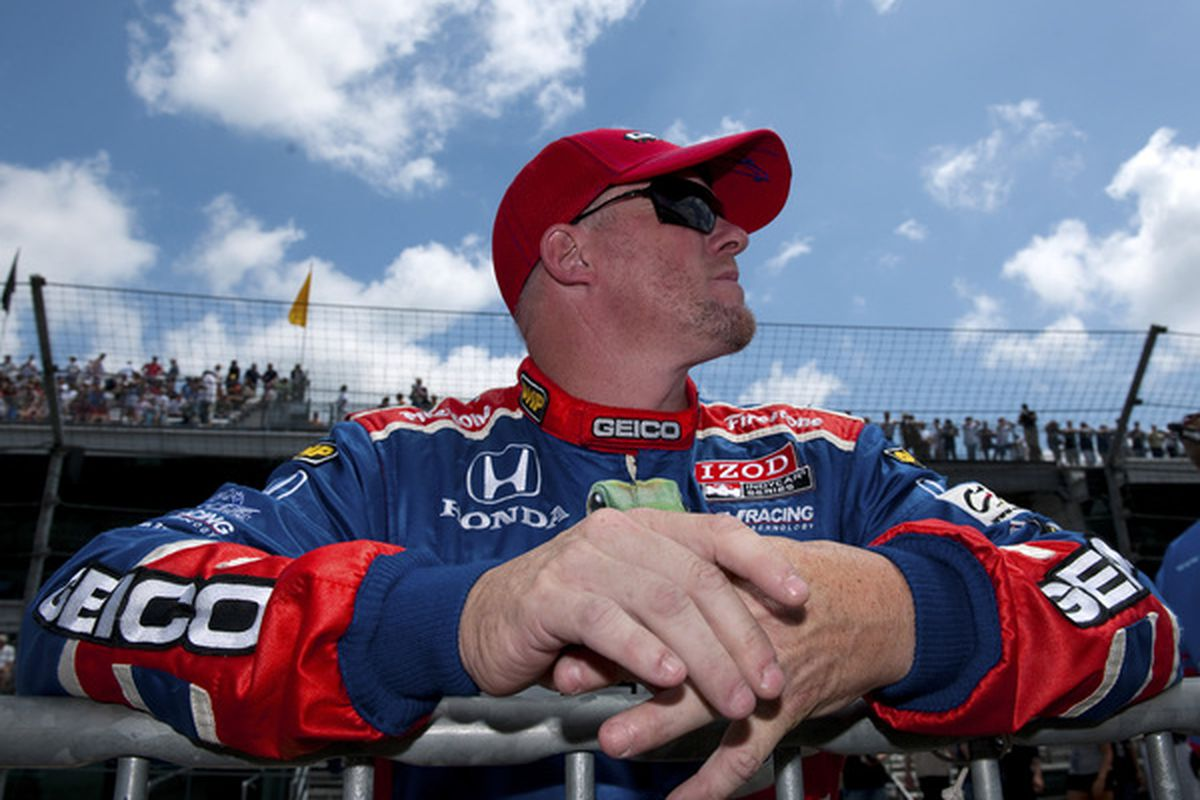 Paul Tracy during Pole Day qualifiying for the IZOD IndyCar Series 94th running of the Indianapolis 500.  (Photo by Robert Laberge/Getty Images)