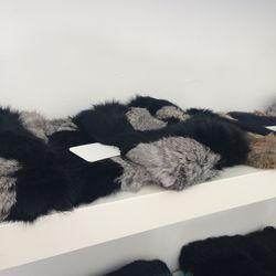 Fur headbands, $75