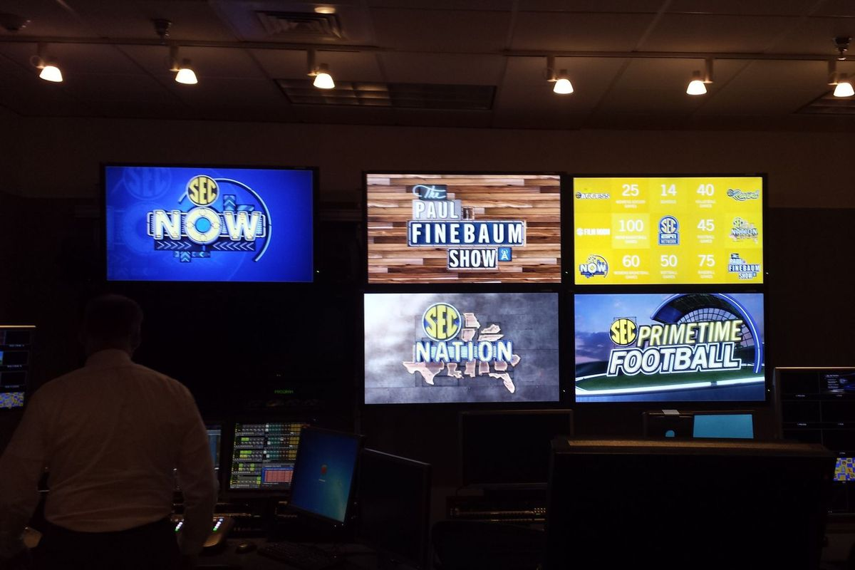 A view from the SEC Network control room highlighting the 4 premier shows on the network