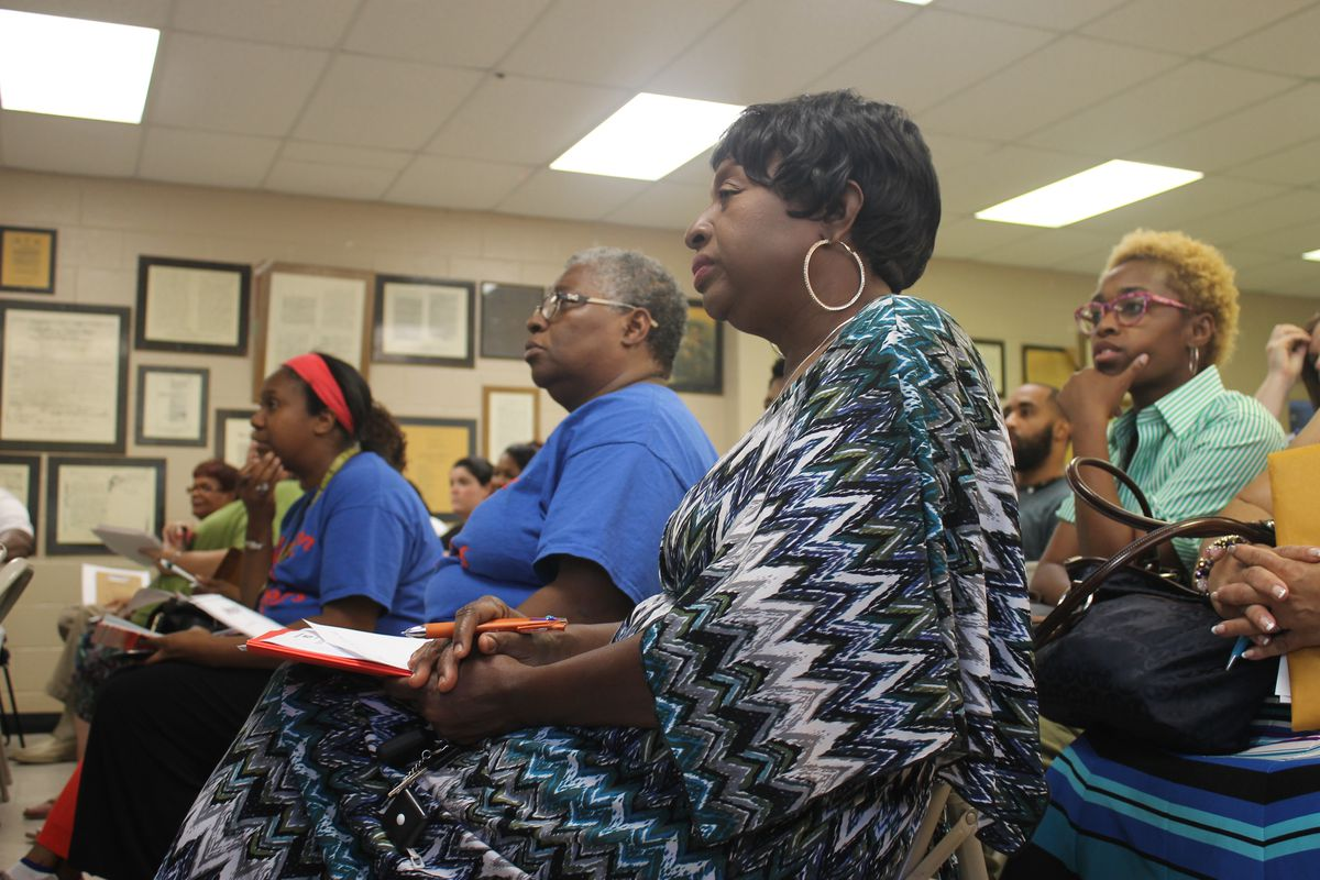 Memphians in Frayser attend a community meeting organized in October by Shelby County Schools. The district hosted nine meetings to seek public input about what makes a good school.