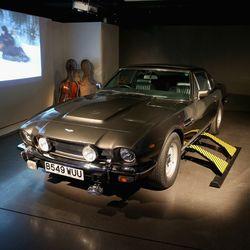 Aston Martin V8 Volante and cello case sled