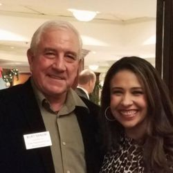 Burt Minor and Erika Harold at a campaign event last year. Facebook photo.