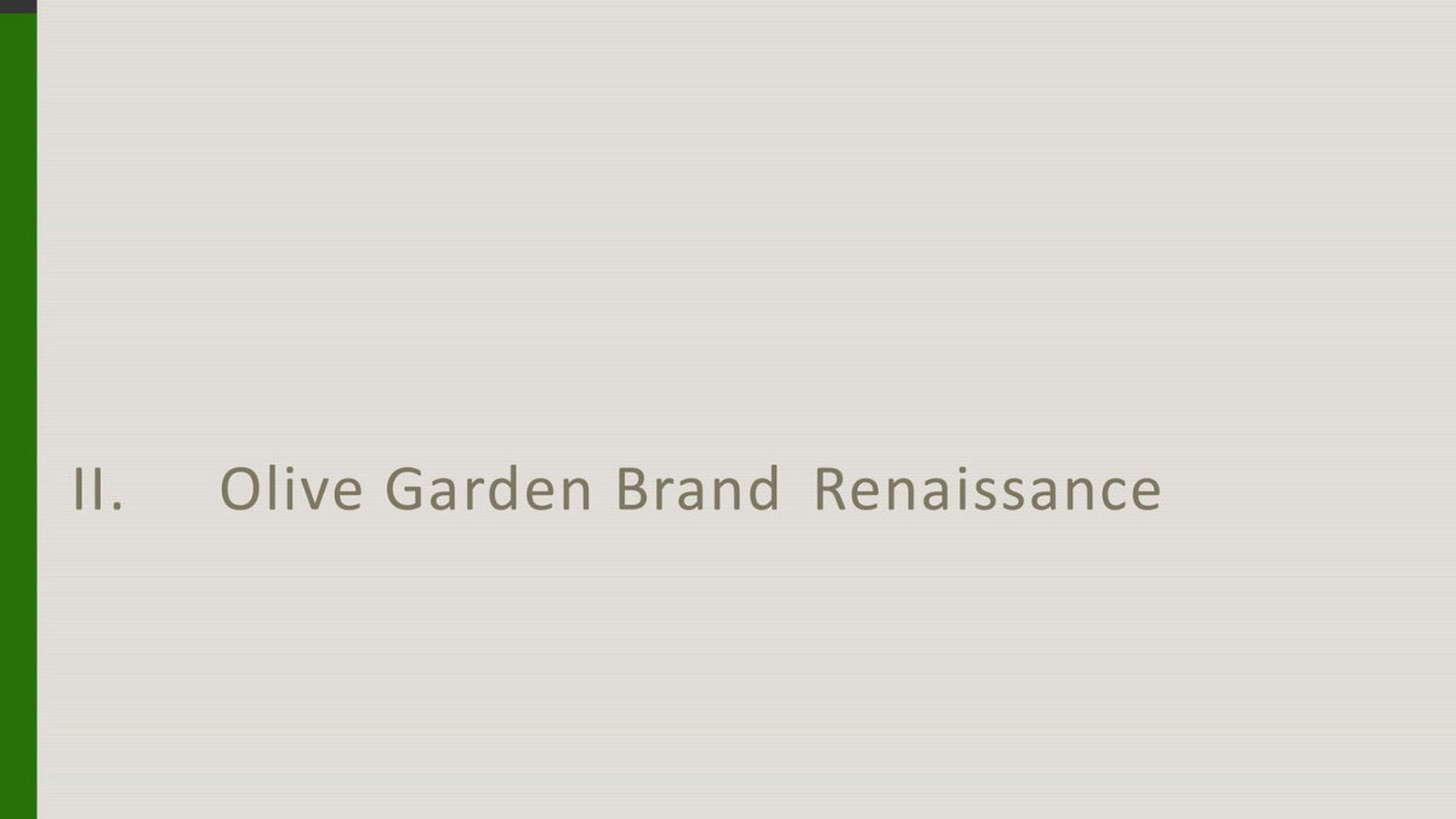 Olive Garden 39 S New Logo And Nationwide Remodels Part Of A