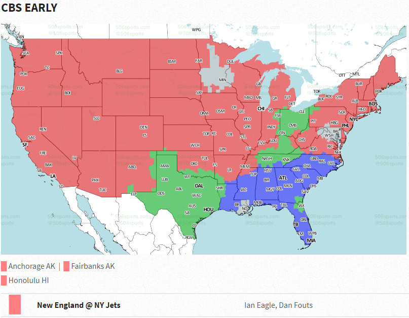 Week 6 Patriots vs Jets: Game time, TV schedule, channels