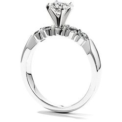 """Hearts on Fire five-stone engagement ring in 18k white gold with .40 total diamond carats, $2,700 at <a href=""""http://www.bernierobbins.com/"""">Bernie Robbins</a>."""