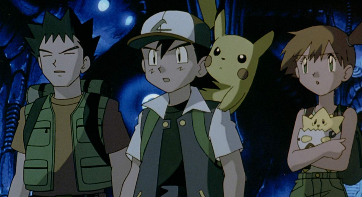 ash, brock, misty in pokemon the first movie