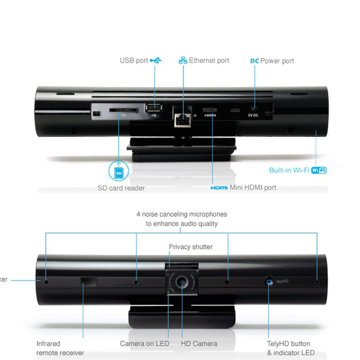 Tely Labs telyHD webcam runs Android, adds Skype calling to