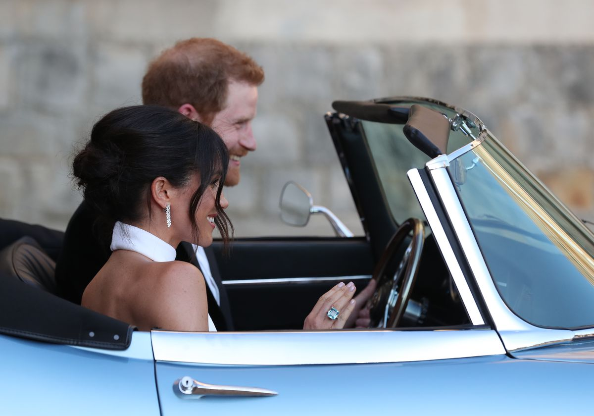aa9c21f1bca Meghan Markle wore Stella McCartney to the royal wedding s evening ...