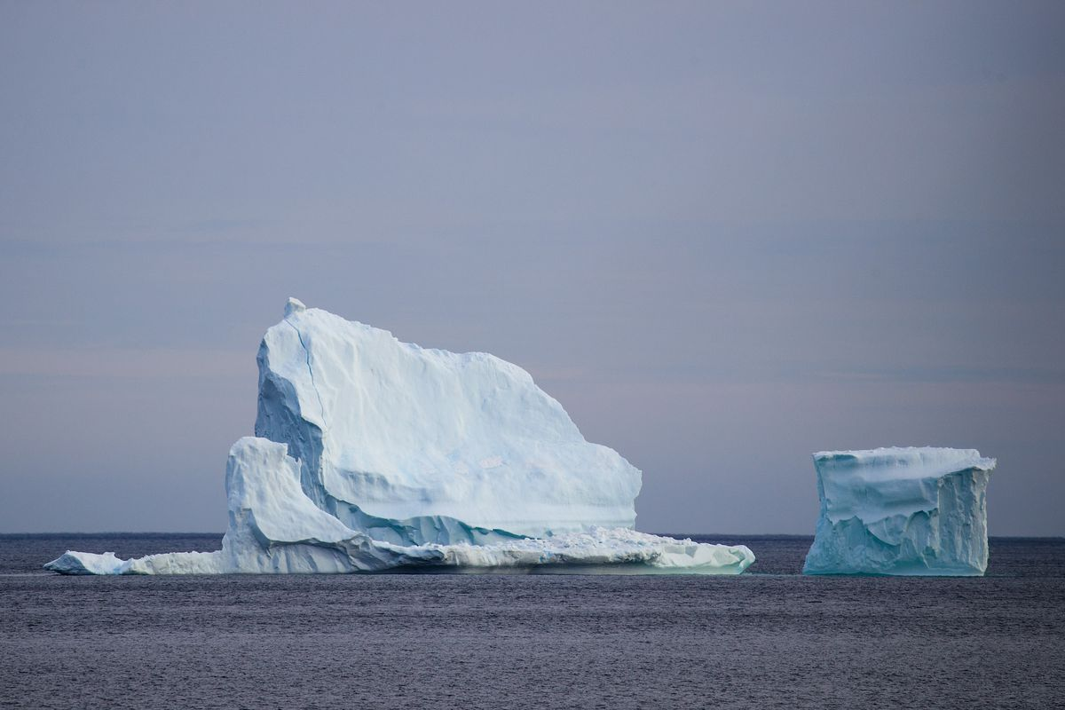 Icebergs Off Coast Of Canada's Newfoundland Draw Tourists To Area