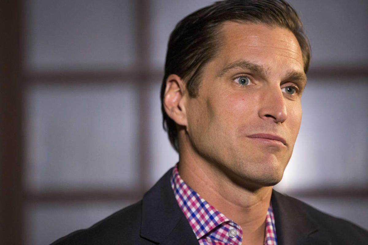 """FILE"""""""" Josh Romney talks Tuesday, April 21, 2015, in Salt Lake City about his political future."""