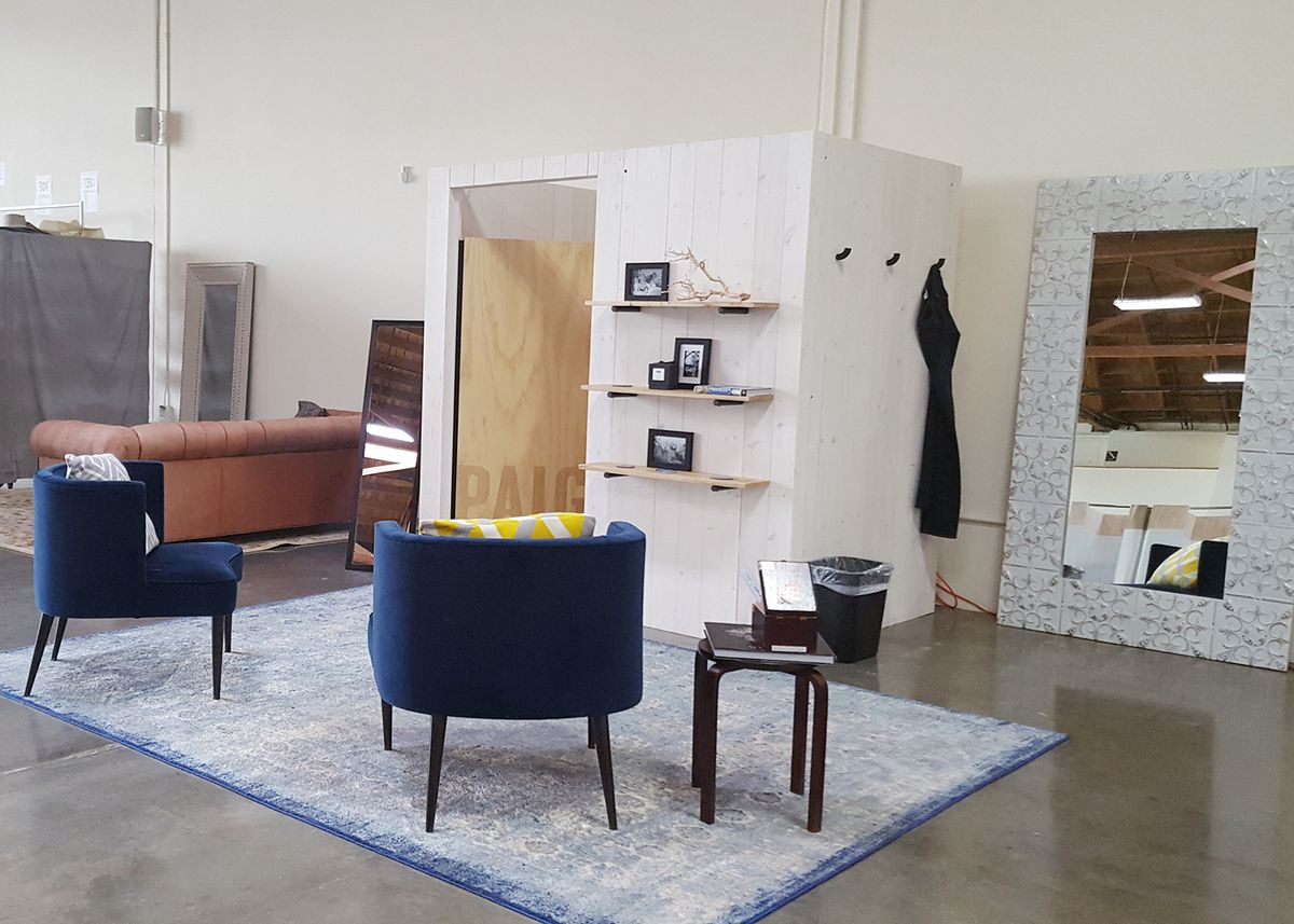 Trunk Club LA's styling and consultation space for women