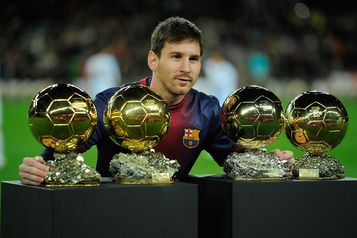 Messi's four Ballon d'Ors will be among the items on display