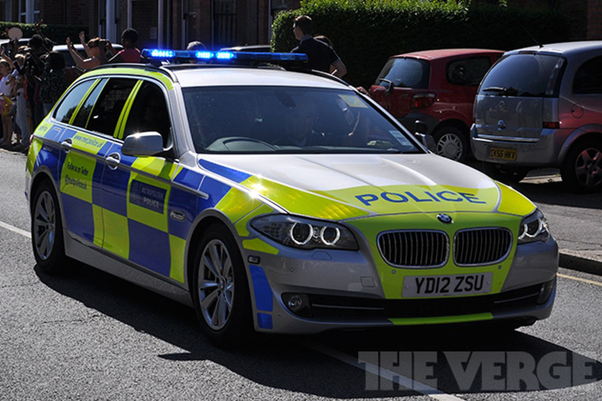 London 2012 Olympics police car stock