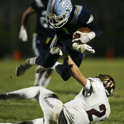 Maple Mountain and Salem Hills compete at Salem Hills on Wednesday, Oct. 14, 2020.