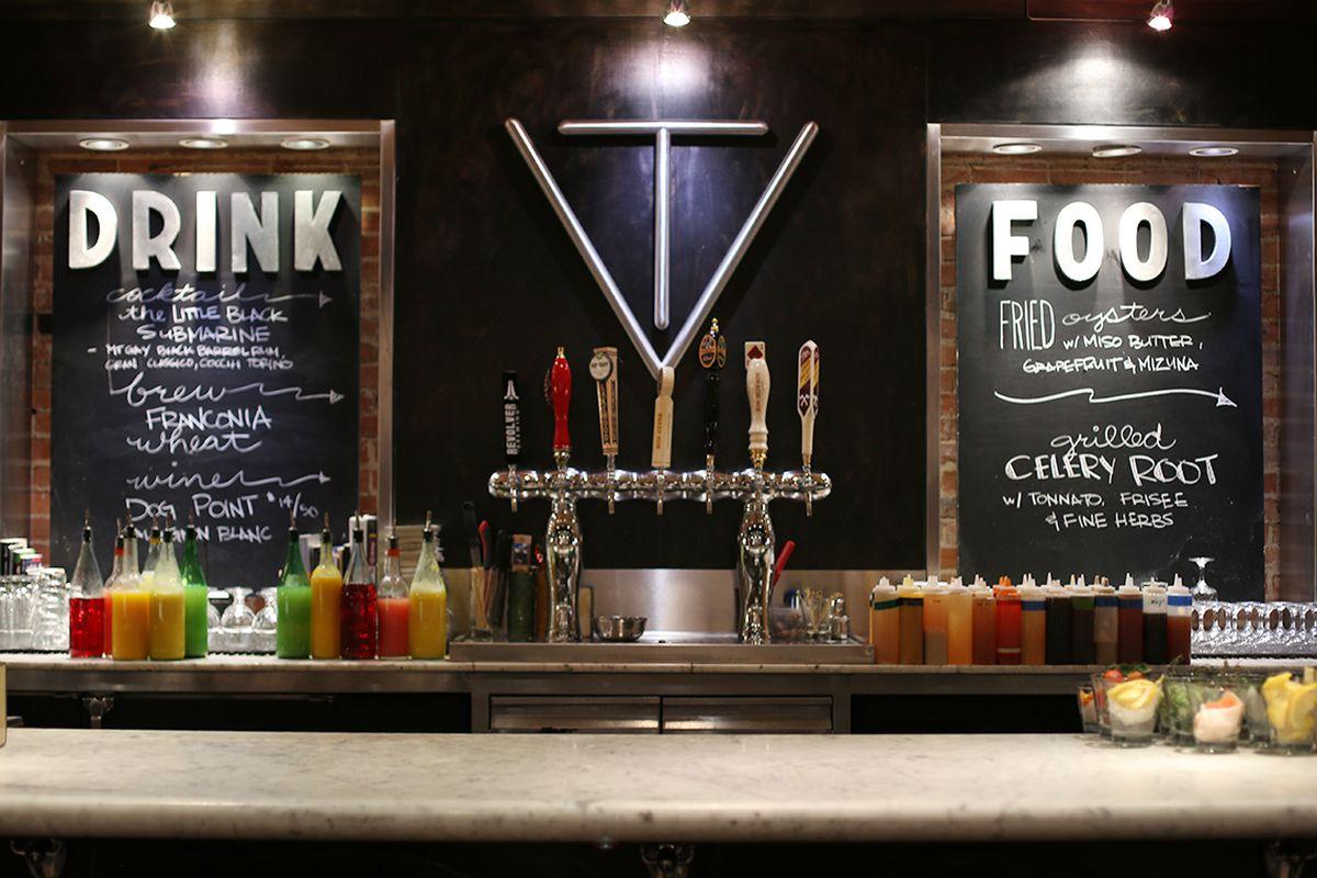 The bar at Victor Tangos in Dallas.