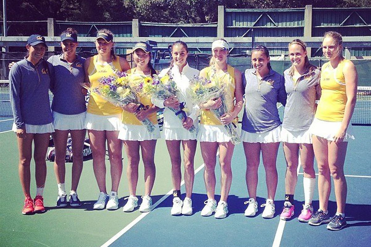 8b2143c6c6 Cal Women's Tennis, who just honored their 3 seniors on Thursday, will go for  the program's first conference title at 'Furd on Saturday.