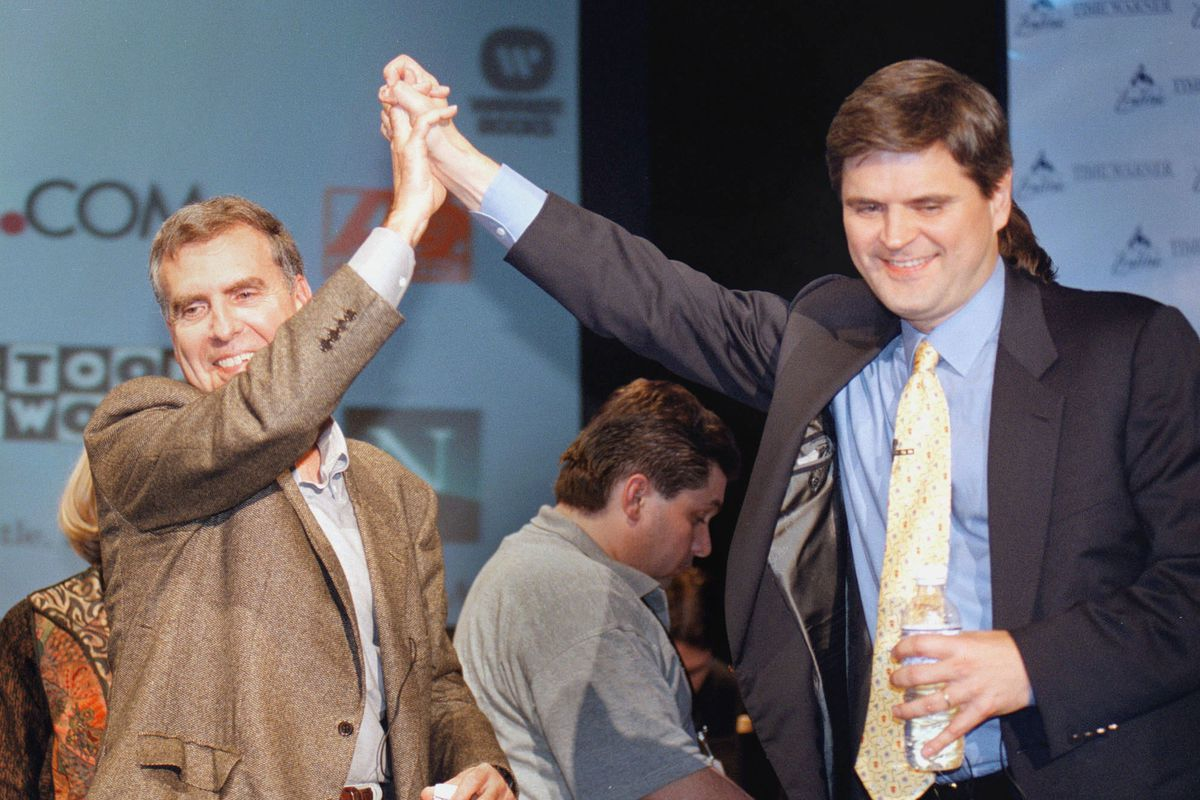 Jerry Levin and Steve Case AOL Time Warner